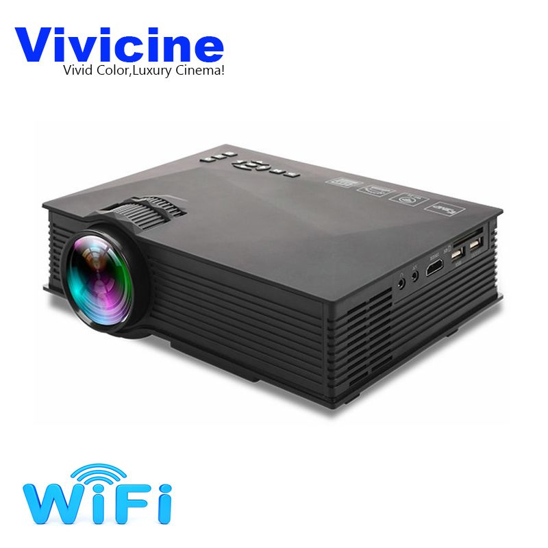 Vivicine UC46+ Portable Mini LED Projector <font><b>Optional</b></font> WIFI Wireless Miracast DLNA Airplay Home Video Game Proyector Beamer