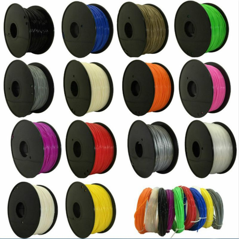 CTC 2019 Top Quality Brand 3D Printer Filament 1.75  1kg  PLA plastic Rubber Consumables Material 9 kinds colours