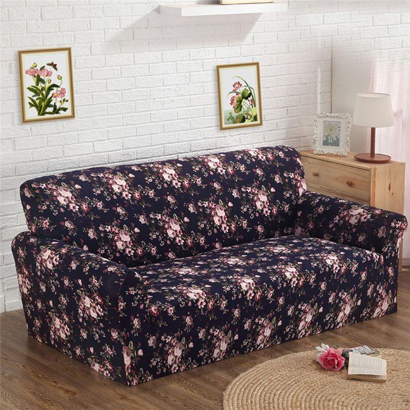 Печатные Чехлы для диванов Мебель чехол скольжению ткань Книги по искусству спандекс стрейч Чехлы для диванов для одного два, три, четыре-ме...