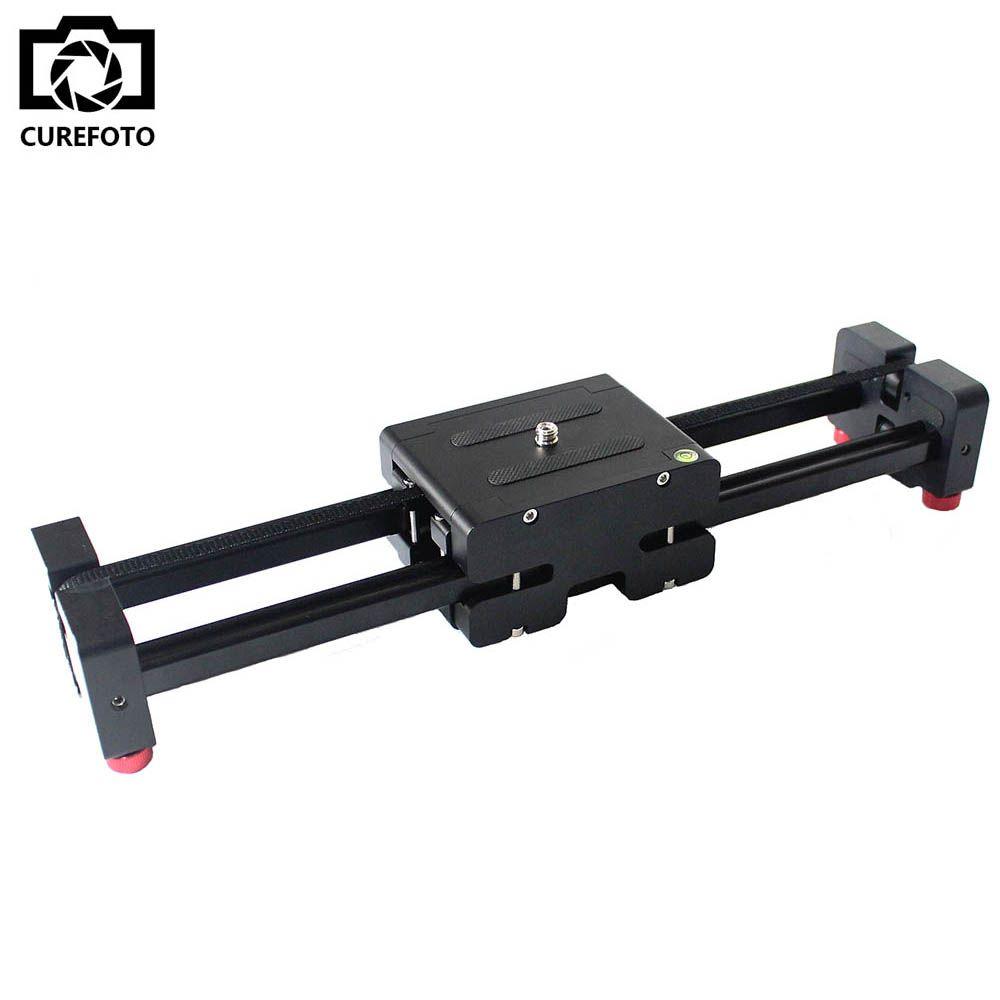New Portable Travel Adjustable DSLR Video Camera Slider Track 50mm Double Distance for SLR DV Camera Camcorder Dolly Stabilizer