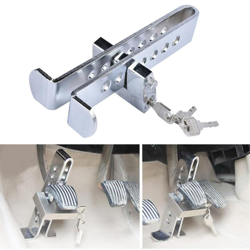 7Hole Auto Car Truck Anti-theft Device Clutch Lock Brake Tool Stainles Anti-lock Picking Safety Lock Tool Accelerator Pedal Lock