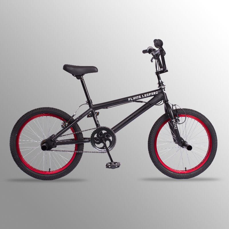 BMX bike 20 zoll stahl rahmen Leistung Bike lila/rot reifen bike für zeigen Stunt Akrobatische Bike hinten Phantasie straße fahrrad