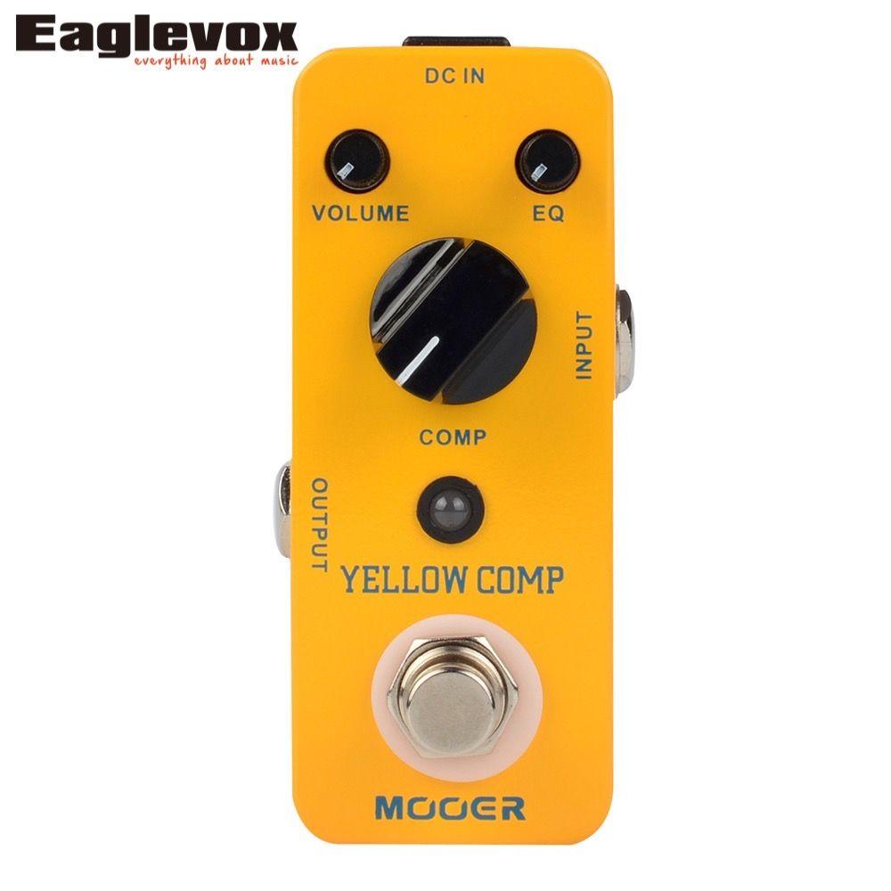 MOOER Yellow Comp Compressor Sound Guitar Effect Pedal True bypass  MCS2