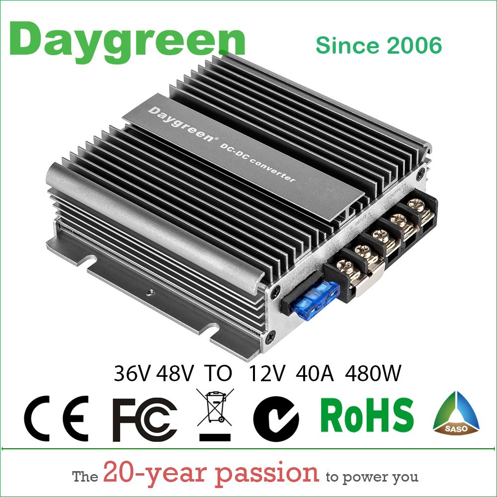 36V 48V TO 12V 5A 10A 20A 30A 40A 50A 60A 13.8V Golf Cart Voltage Reducer DC DC Buck Converter Waterproof CE RoHS Free Shipping