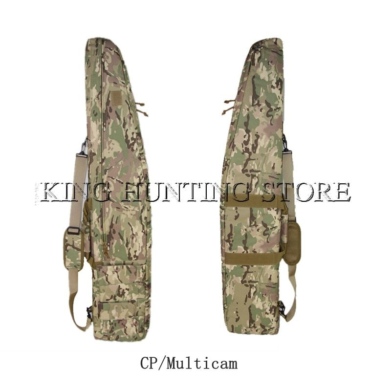 Multicam 120cm/1.2m/47.2'' Rifle Gun Bag Tactical Hunting Accessories Gun Protection Case Nylon Shoulder Bag With Mag Pouches