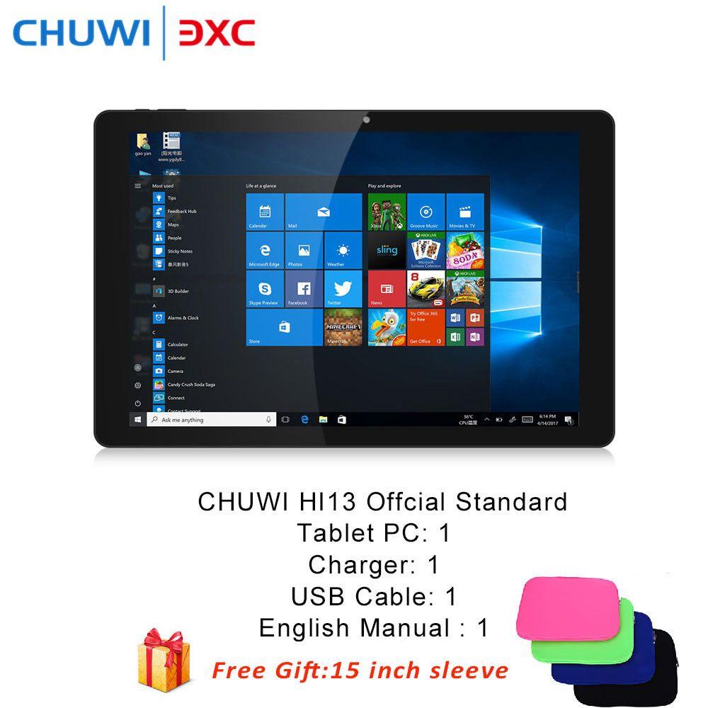 CHUWI Hi13 13,5 zoll 2 in 1 Tablet PC Windows10 Intel Celeron N3450 Quad Core 4 GB RAM 64 GB ROM Dual WiFi