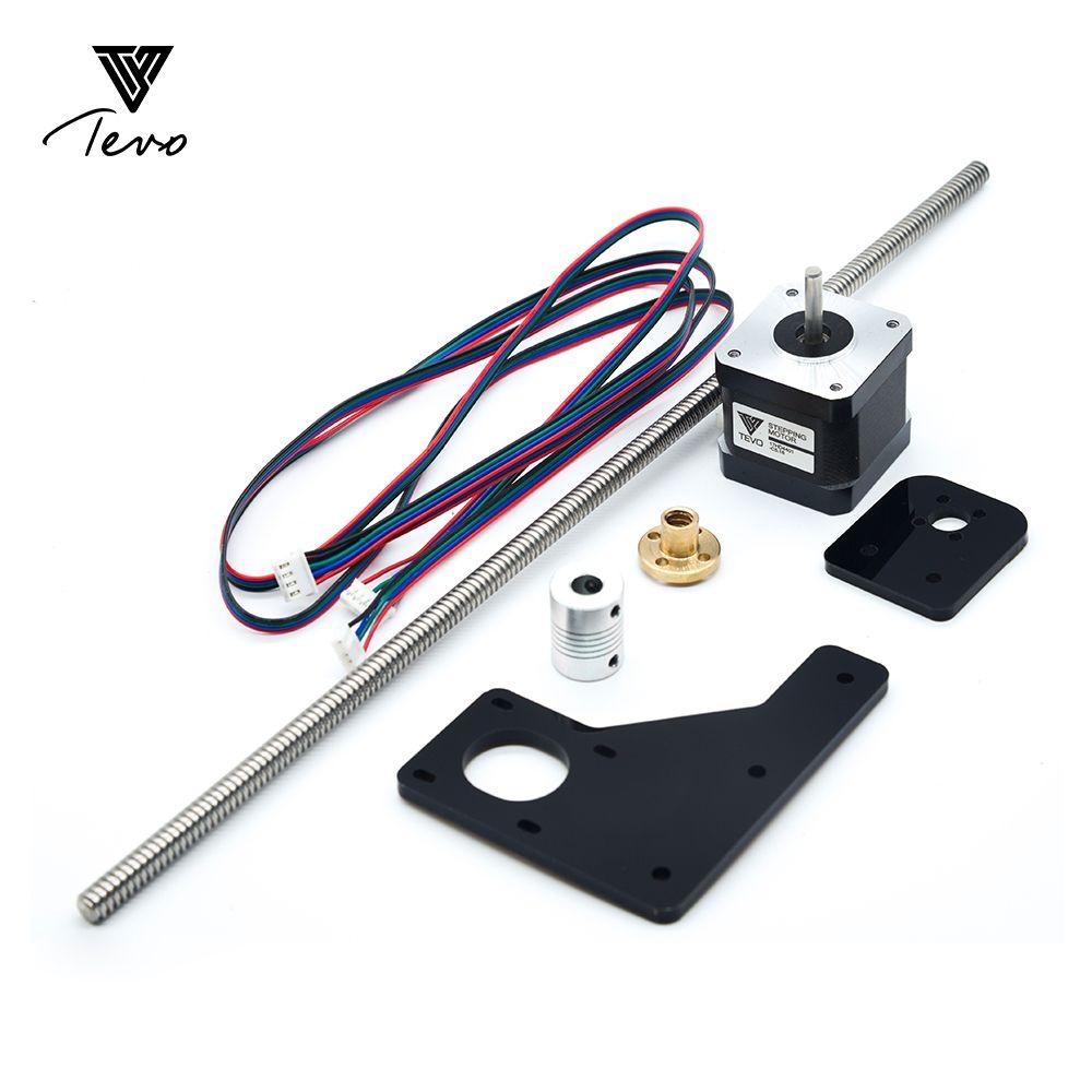3D Printer  TEVO Tarantula Dual Z Axis Upgrade Kit Nema  17 Step motor   T8*2 lead screw 375 mm 8mm with Brass copper