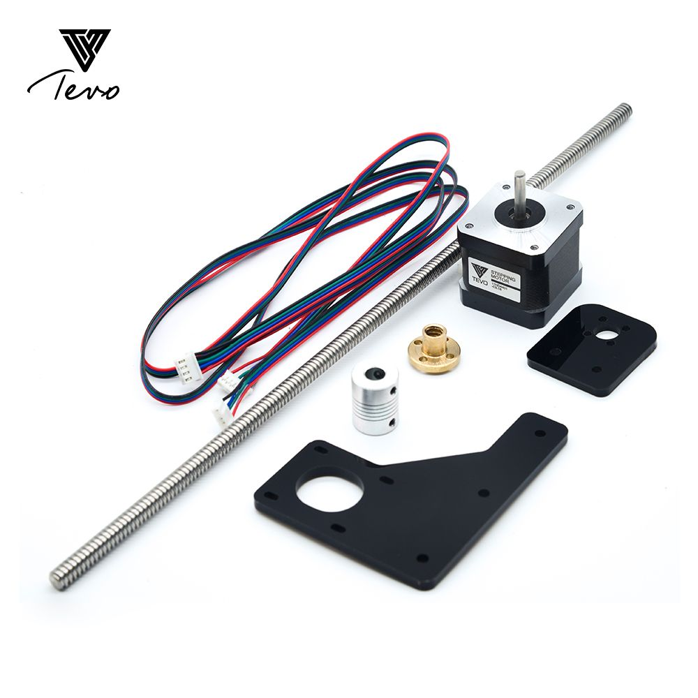3D Printer TEVO Tarantula Dual Z Axis Upgrade Kit Nema 17 Step motor T8*2 lead screw 375 mm 8mm with Brass copper