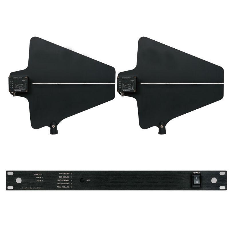 Professionelle Antenne Mic Splitter Collector Directional Antenne Distributor verstärker für 4 sätze Drahtlose Mikrofon System