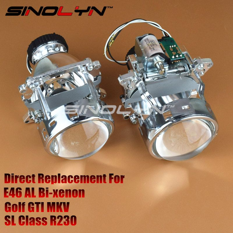 AL Headlight Bi-xenon Projector Lens D2S Replacement for 3 serie BMW E46 compact Pre-facelift Coupe Covertible Golf GTI A1 A3