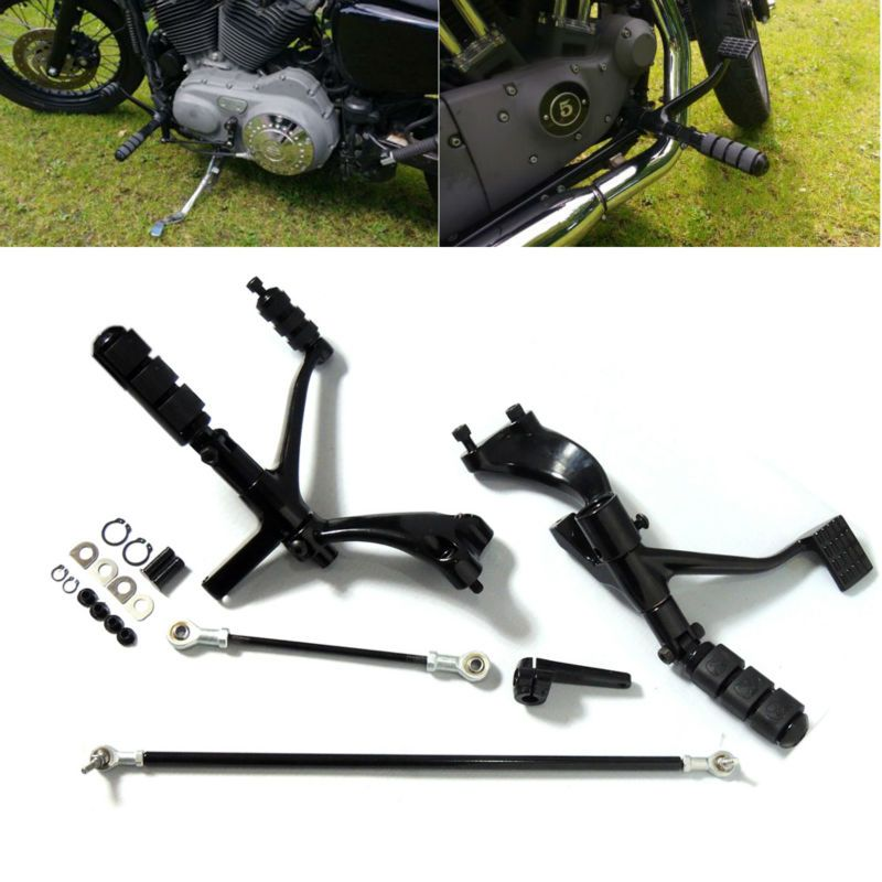 Forward Controls Complete Kit with Pegs Levers Linkages For Harley Sportster 1200 883 Motorcycel Parts Black