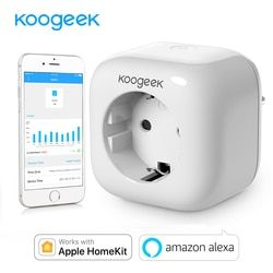 Koogeek Prise Intelligente Wifi Plug pour Apple HomeKit Alexa Google Assistant UE Intelligent Accueil Plug Power Energy Moniteur Contrôle Siri