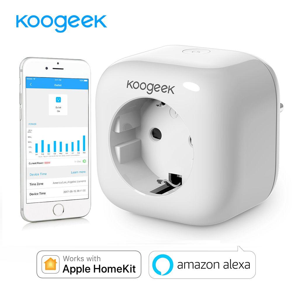 Koogeek Smart Socket Wifi Plug for Apple HomeKit Alexa Google Assistant EU Smart Home Plug Power Energy Monitor Siri Control