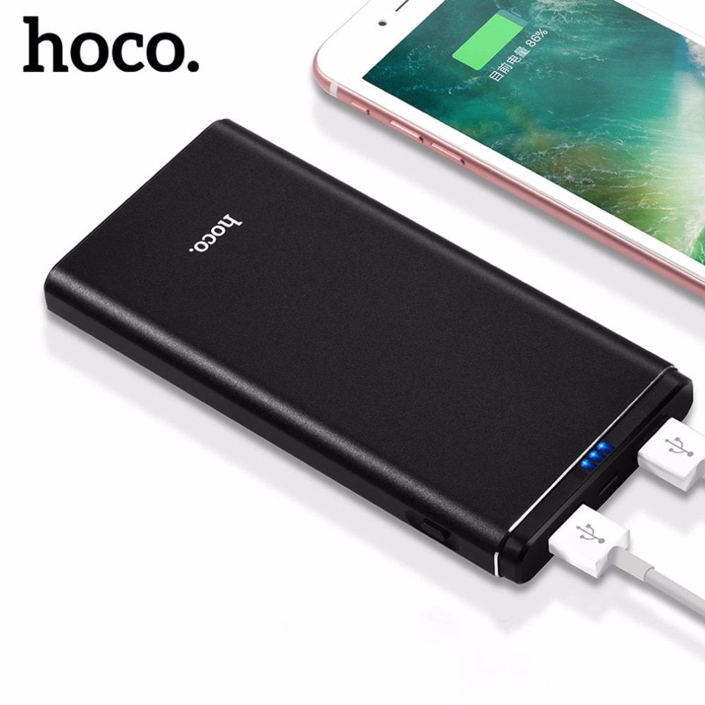 HOCO 10000mAh Power Bank Fast Charger 3.0A Dual USB Powerbank 10000 mAh for iPhone 4 5 6 7 SE Mobile Phone External Battery