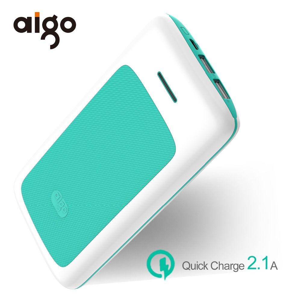 Aigo 30000 mAh banque Dual Power USB Entrée Micro USB entrée résistant au feu Powerbank Smart Externe Batterie Mobile Portable chargeur