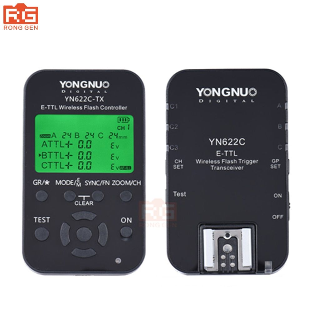 Yongnuo YN 622C kit, YN-622C Wireless ETTL HSS 1/8000S Flash Trigger controller + Transceiver for Canon 1100D 1000D 650D 600D