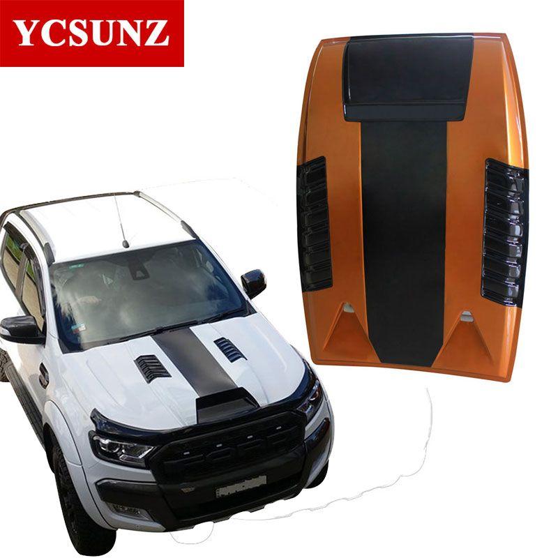 For Ford Ranger T6 2012-2015 Raptor Bonnet Scoop Accessories Bonnet hood cover For Ford Ranger T6 2013 2014 Wildtrak Part Ycsunz