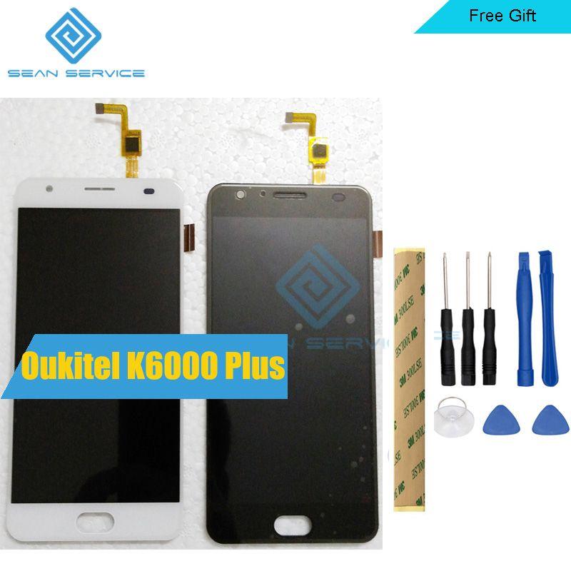100% Oukitel K6000 Plus écran LCD et Écran Tactile 5.5 K6000 Plus Remplacement D'assemblée de Convertisseur Analogique-Numérique D'écran + Outils + adhésif stock