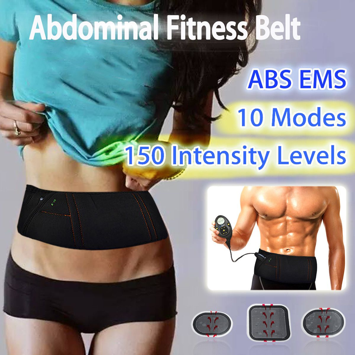 EMS Electric Slimming Belt Abdominal Muscle Lose Weight Fitness Massage Sway Vibration Belly Muscle Waist Trainer Stimulator