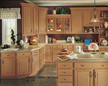 solid wood  kitchen cabinet and design for free(LH-SW006)