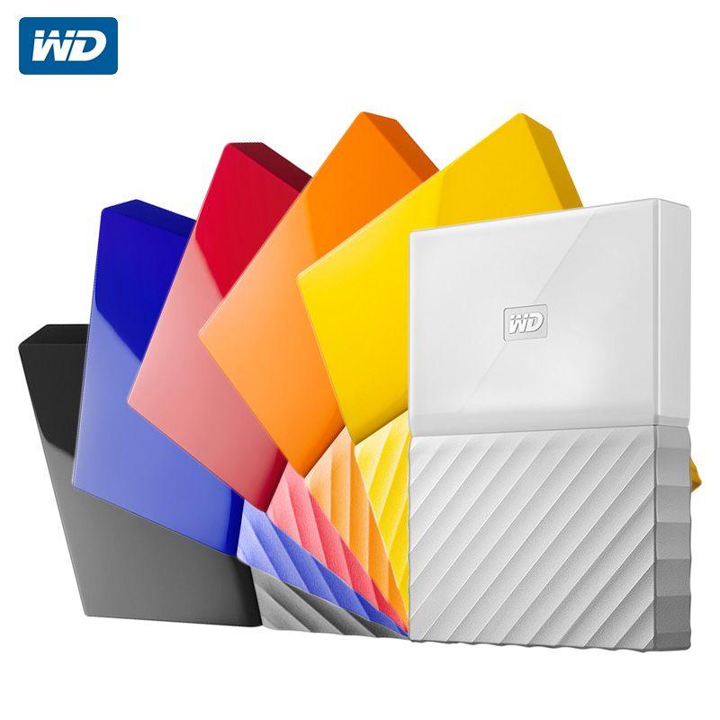 WD 1 TB 2 TB My Passport Externe Festplatte Festplatte USB 3.0 1 T 2 T Tragbare Verschlüsselung HDD HD Speichergeräte SATA 3 für Windows Mac