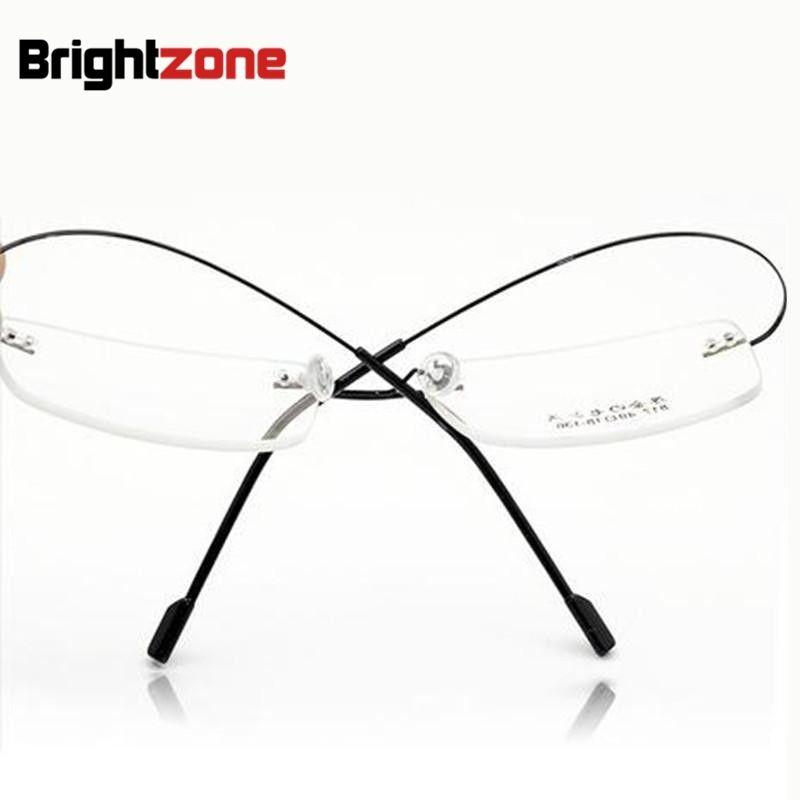 Розничная 9 цветов мода очки без оправы кадров/мода памяти titanium очки рамки/рецепт оптических оправ