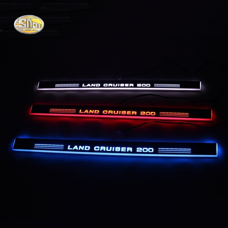 SNCN LED door sill for Toyota Land Cruiser 200 LC200 FJ200 2007~2015 Led moving lights door scuff plate welcome pedal