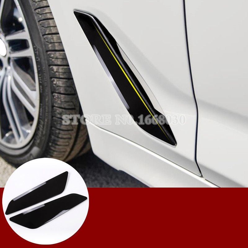 ABS Fender Side Air Vent Outlet Cover Trim 2pcs For BMW 5 Series G30 2017 2018