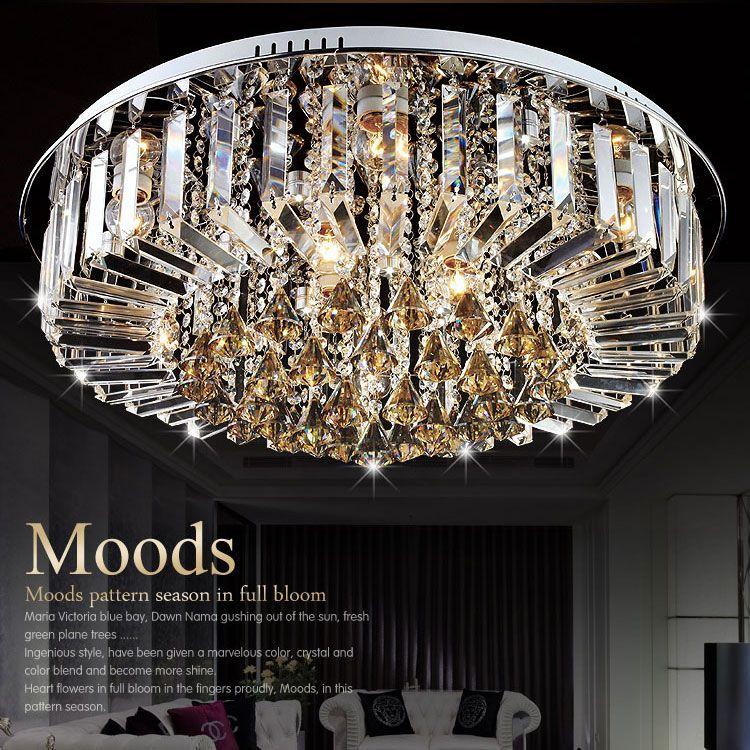 Modern fashion DIY Crystal LED Ceiling Light fixture home deco minimalist romantic living room E27 bulb ceiling lamp