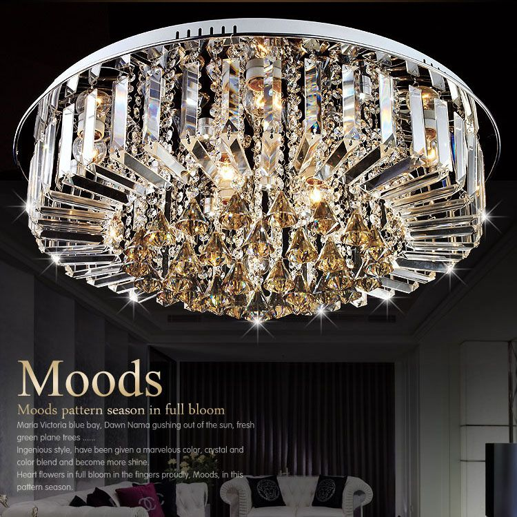 Modern fashion DIY Crystal LED Ceiling Light fixture home deco minimalist romantic living room E27 bulb ceiling lamp