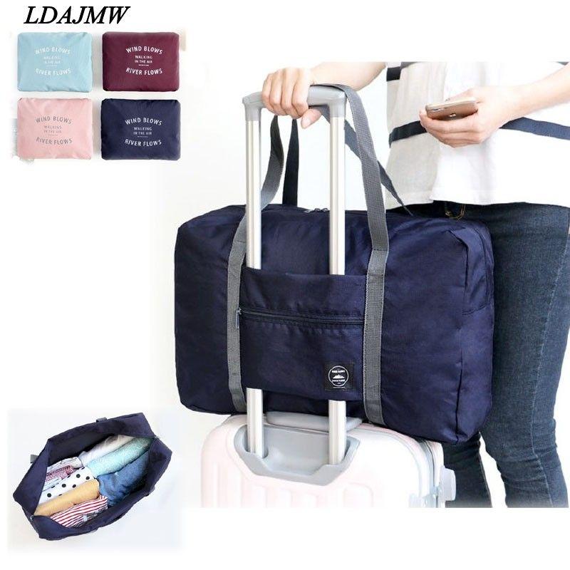 LDAJMW décontracté grande capacité bagages emballage fourre-tout/épaule voyage Shopping grand sac pliant vêtements rangement pochette organisateur