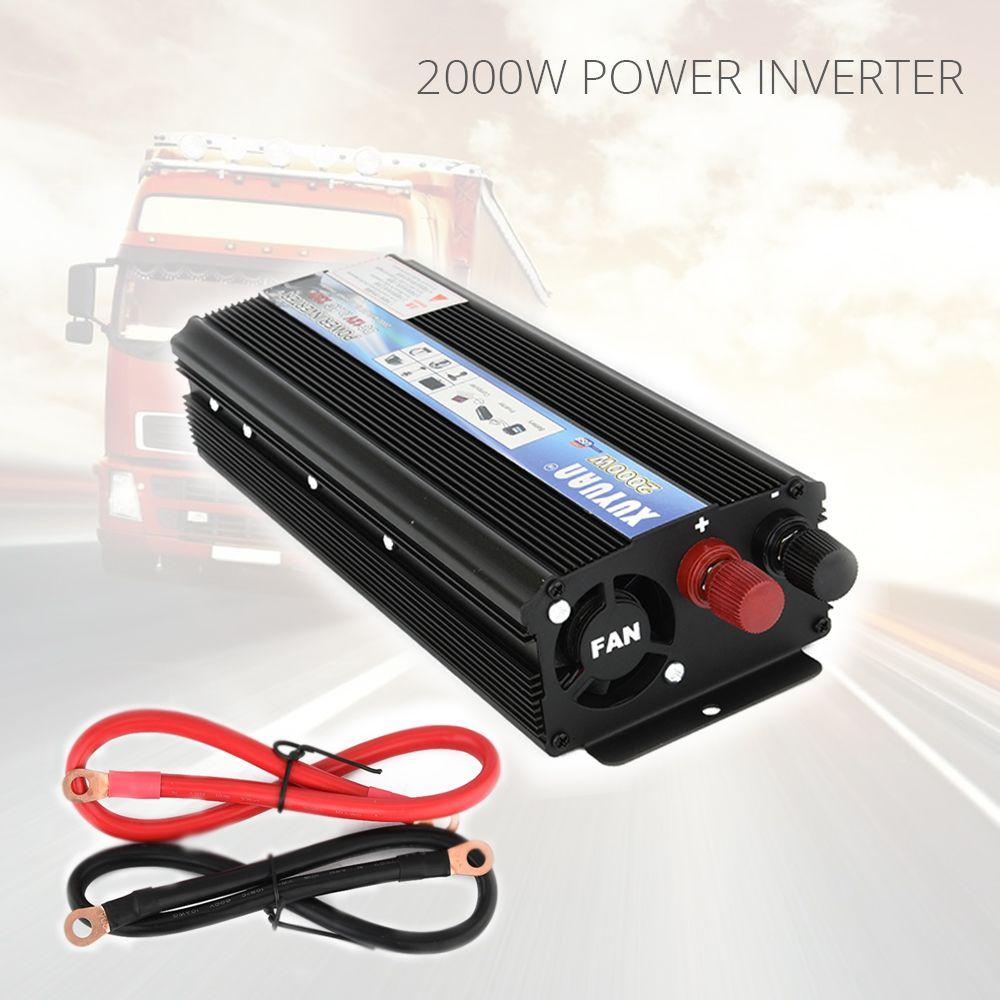 2000W Car Inverter Converter DC 12V 220V Power Inverter Charger Converter Transformer Automobiles Universal Vehicle Power Switch