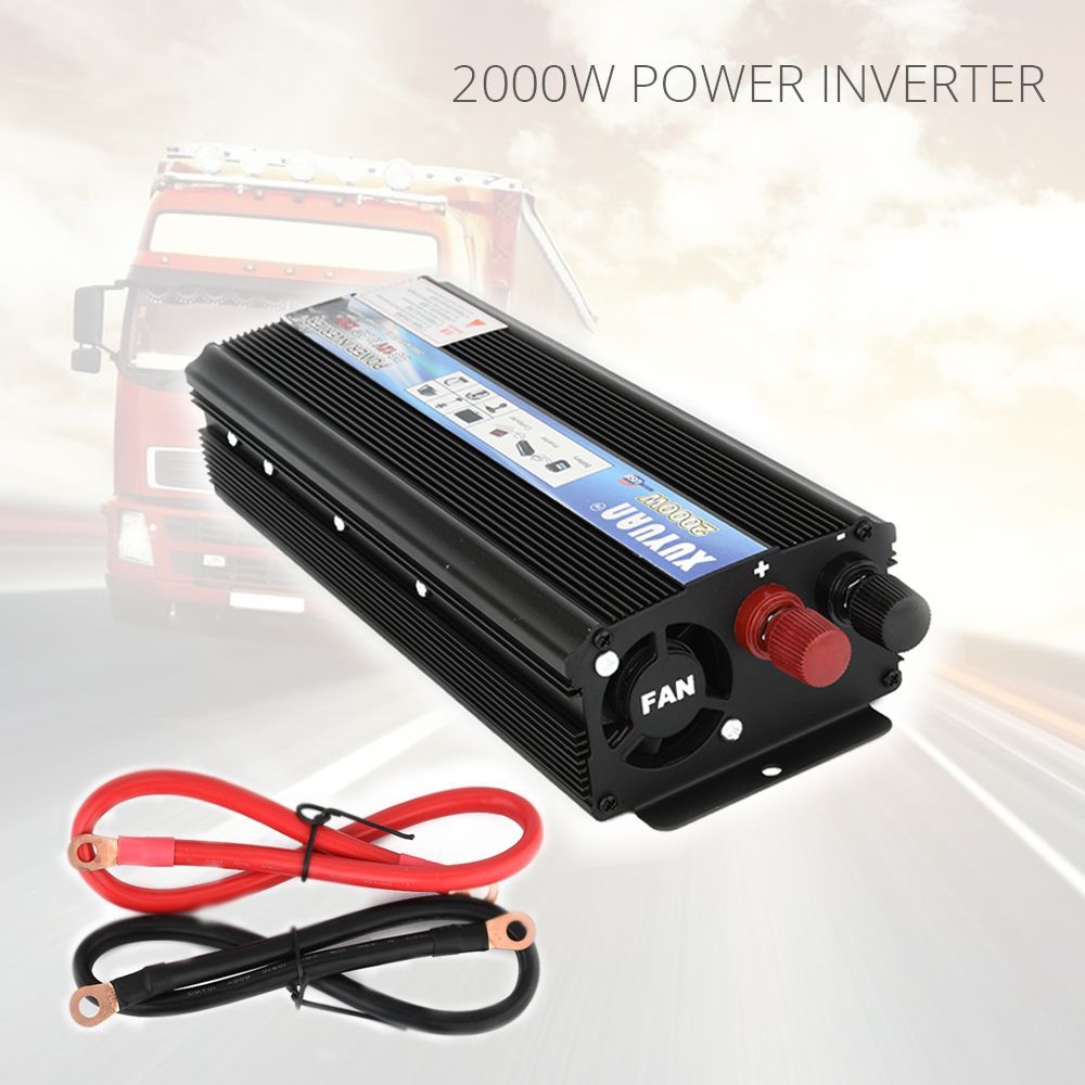 2000W Car Inverter Converter DC 12V 220V Power Inverter Charger Converter Transformer Automobiles Universal Vehicle Power Switch
