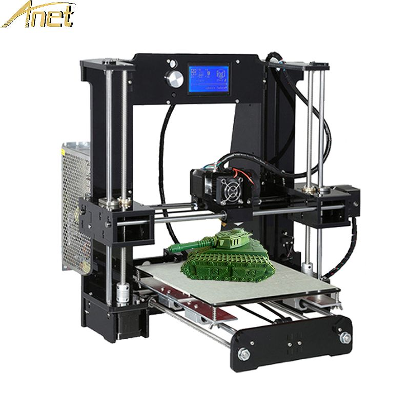 2017 High Quality Anet A6 A8 Normal&Auto Level A8 Cheap 3D Printer Easy Assemble Reprap i3 3D printer Kit DIY With Free Filament