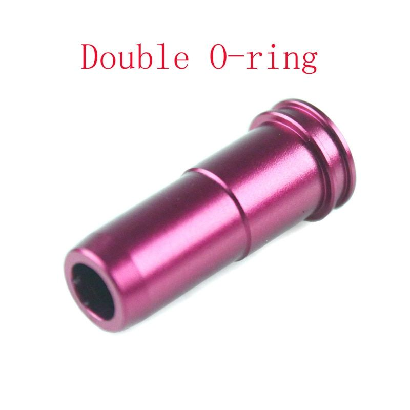 10pcs/pack High seal CNC Aluminum Double O-ring Air Seal Nozzle for M4 M16 Series Airsoft AEG