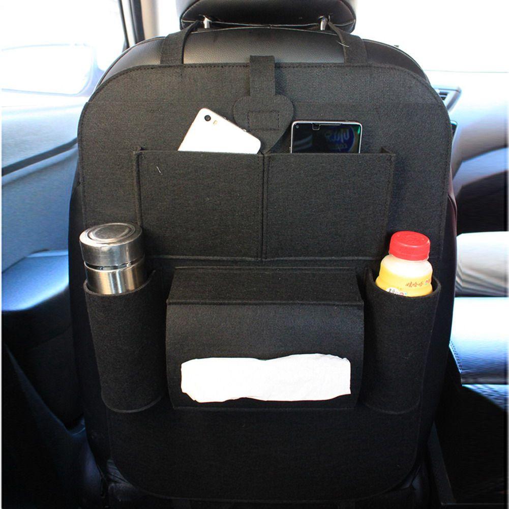 Automático Multi-Bolsillo Bolsa de Almacenamiento Organizador Del Asiento de Coche Asiento Trasero Titular Car Styling Patadas Estera De Alimentos Taza de Teléfono almacenamiento