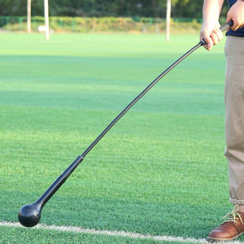 Golf Training Aids Golf Swing Trainer Deformation Balance Muscle Workout High Density EVA Soft Stick Training Stick black blue