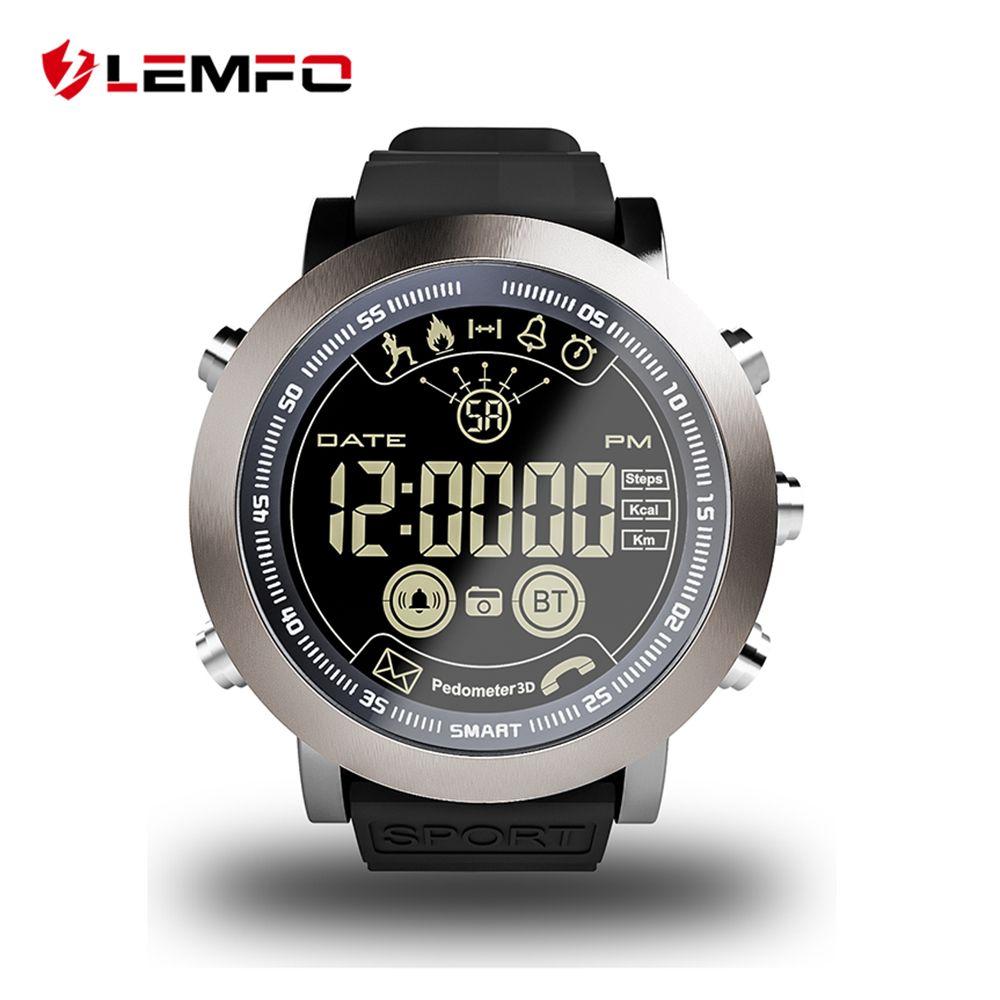 LEMFO LF23 Smart Watch Men Professional Sport IP68 Waterproof 610Mah Battery 33 Months Long Time Standby Vintage Clock