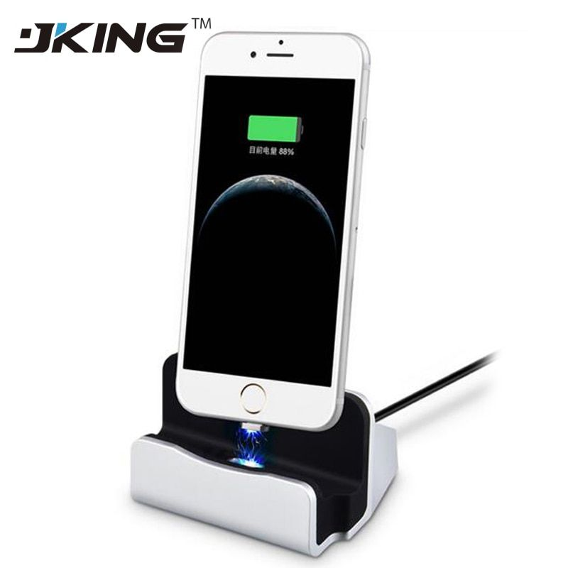 2017 New Magnet Adsorb Charging Dock Station Desktop Universal Magnetic Charger USB Sync Data For iPhone 5 5s 6 6s 7 Plus Micro