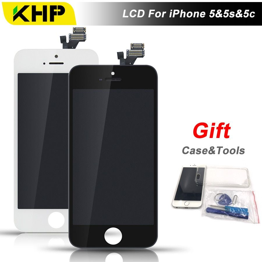 100% KHP AAAA Quality 5C LCD For iPhone 5S 5 5C Screen Replacement LCD Display Touch Screen Digitizer With Case Tool Kits Gifts