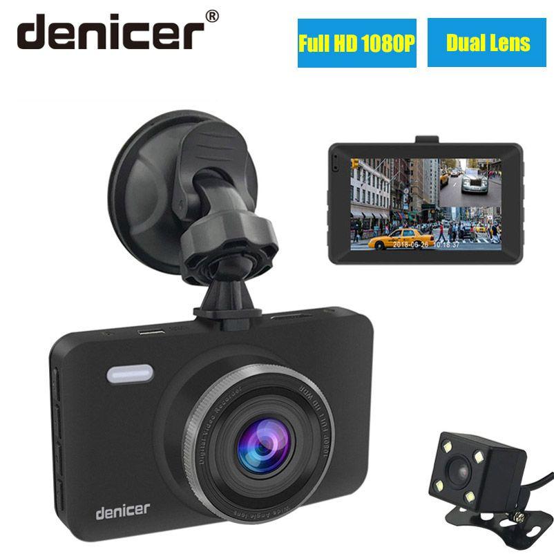 Caméra Dvr de voiture denizer 3.0 écran Full HD 1080P 30fps double objectif avec vue arrière Dashcam enregistreur vidéo de voiture d'enregistrement automatique DVRs