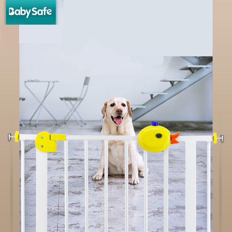 75 ~ 82 cm de Alta calidad tranquila perro valla valla puerta de la escalera de madera maciza puertas y ventanas
