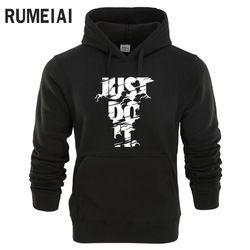 RUMEIAI New 2018 Hoodies Men Long Sleeve Hoodie Lightning JUST DO IT print Sweatshirt Mens Casual Brand Clothing Hoody Jacket