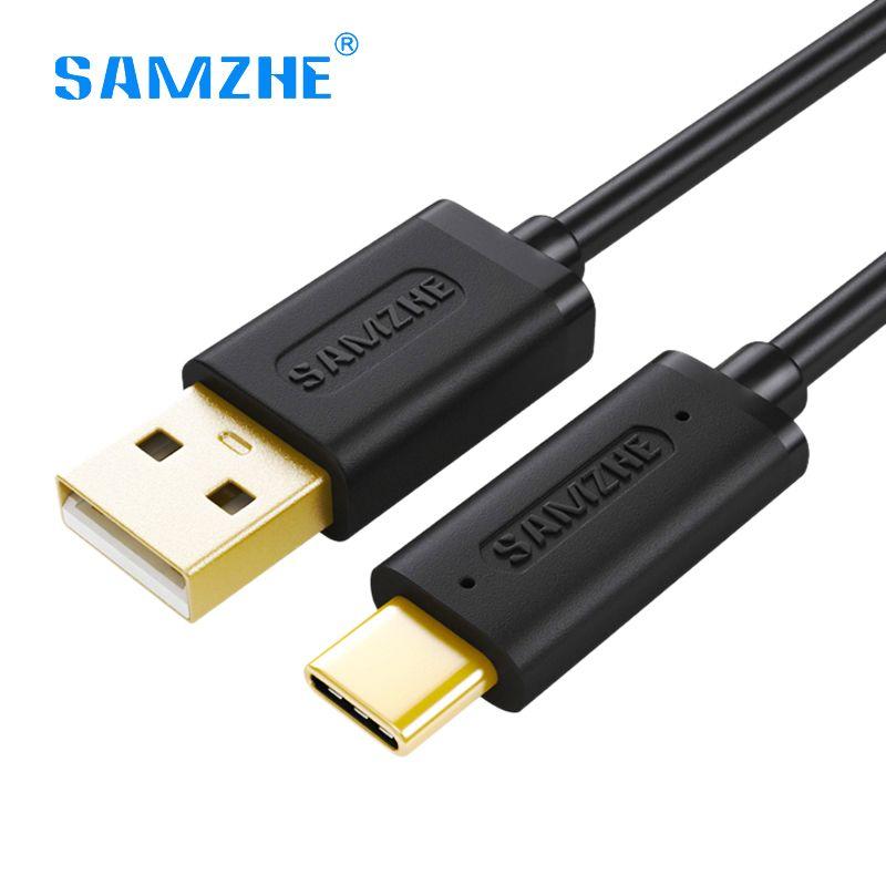 SAMZHE USB Typ C Kabel 2.4A USB C Schneller Ladedatenübertragung kabel USB Typ C Ladegerät Kabel für Xiaomi mi5 huawei LG samsung OnePlus
