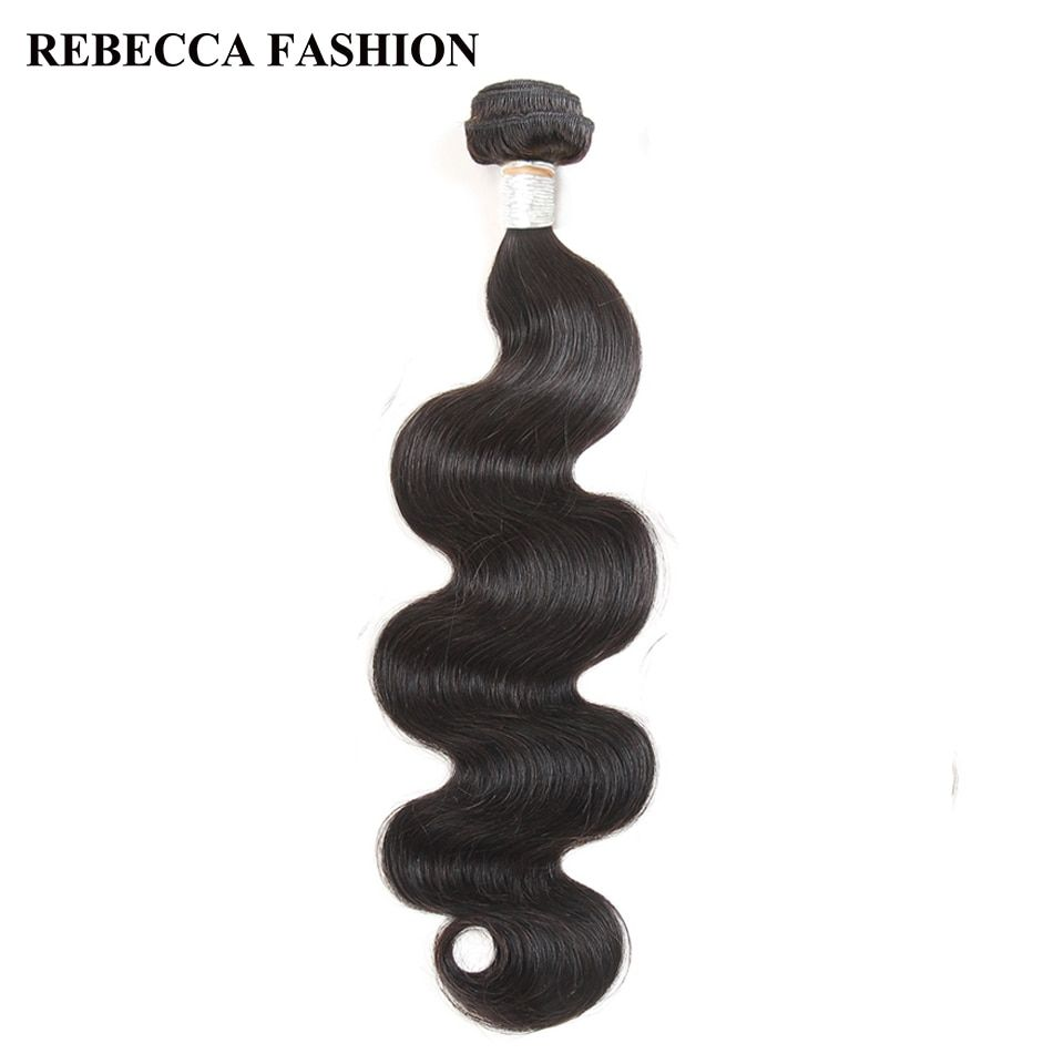 Rebecca Body Wave Raw Indian Hair 1 Bundle Remy Human Hair Bundles 8 to 30 inch Hair Weave Salon unprocessed Hair Extensions