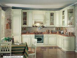 Твердой древесины европейский стиль кухонный шкаф (lh-sw022)