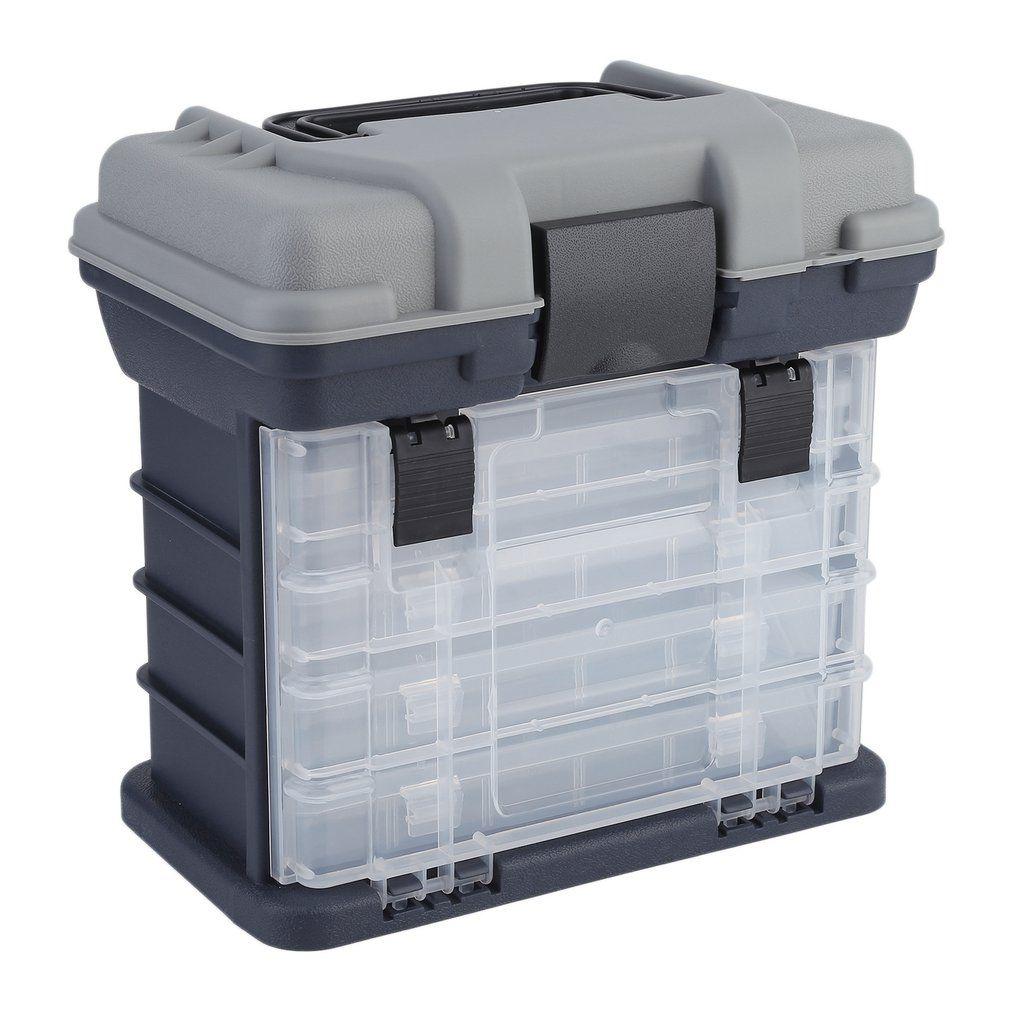 27*17*26 см Портативный Пластик Открытый 5 Слои большой Рыбалка снасти инструмент коробка для хранения чехол с ручкой бесплатная доставка