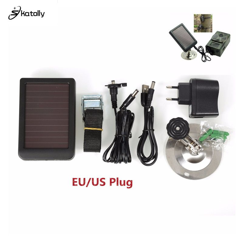 Skatolly HC300M HC300 Hc500M Solar Panel Charger Battery External Power For SUNTEK Wildlife Scouting infrared hunting Camera