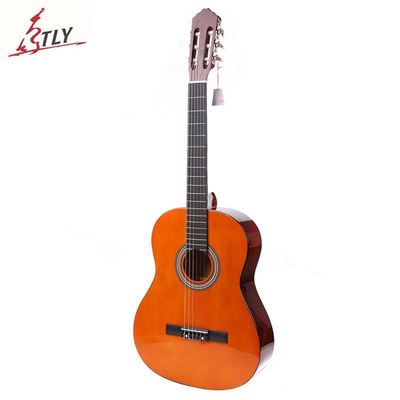High Quality 39 Basswood Classical <font><b>Guitar</b></font> 6-Strings Students Beginner <font><b>Guitar</b></font> Guitarra with Foam Package