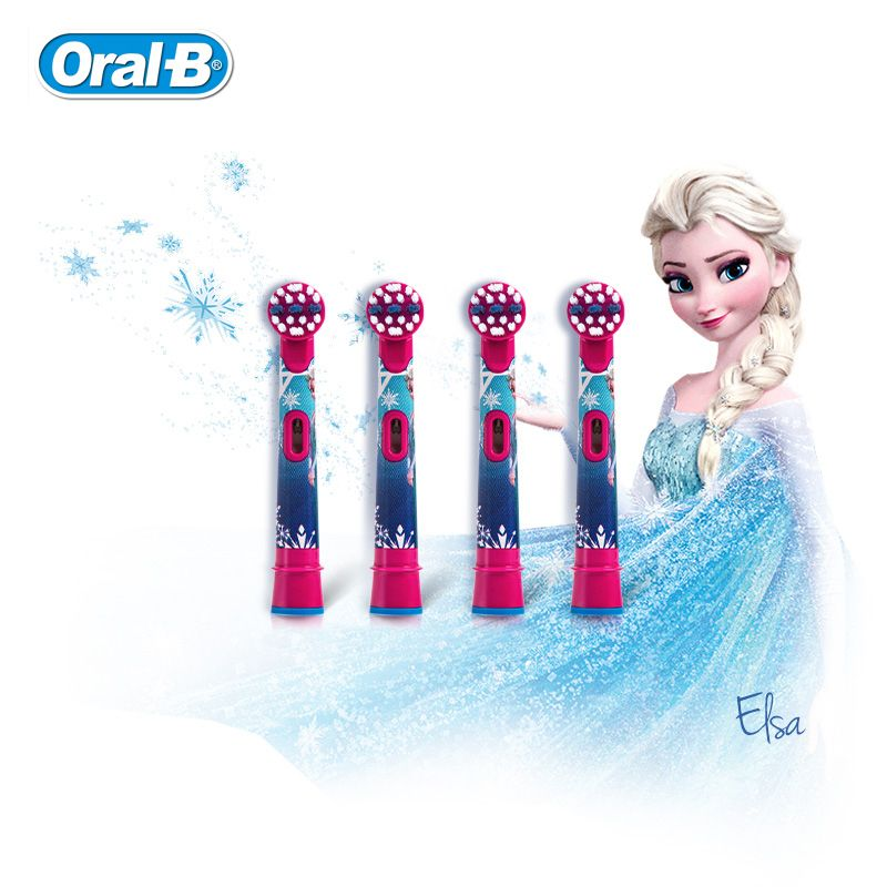 Oral B Children Electric Toothbrush Heads Frozen Tooth Brush Heads Round Brush Heads 4 hedas for 3+ children